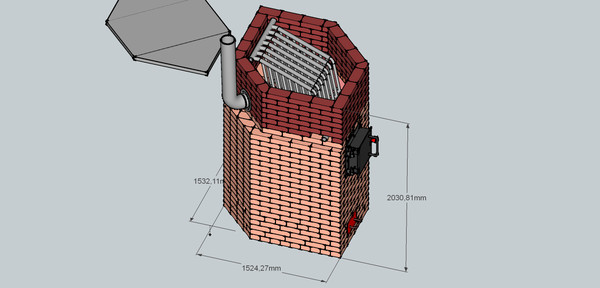 Пиролизная печь - BLAGO(Благо)